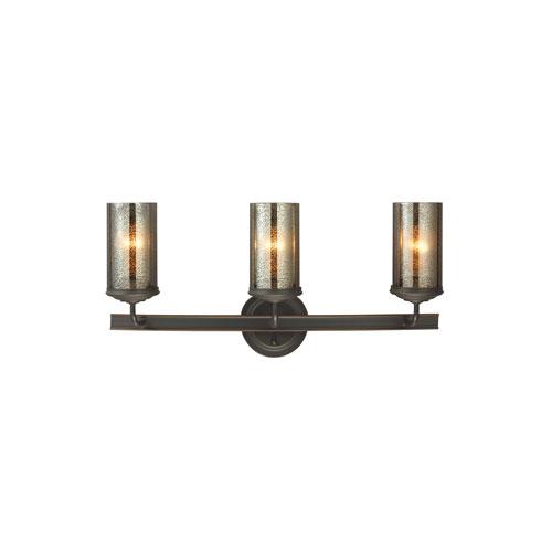 Sea Gull Lighting Sfera Autumn Bronze Energy Star Three-Light LED Bath Vanity with Mercury Glass