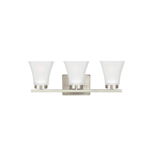 Sea Gull Lighting Bayfield Brushed Nickel Energy Star Three-Light LED Bath Vanity