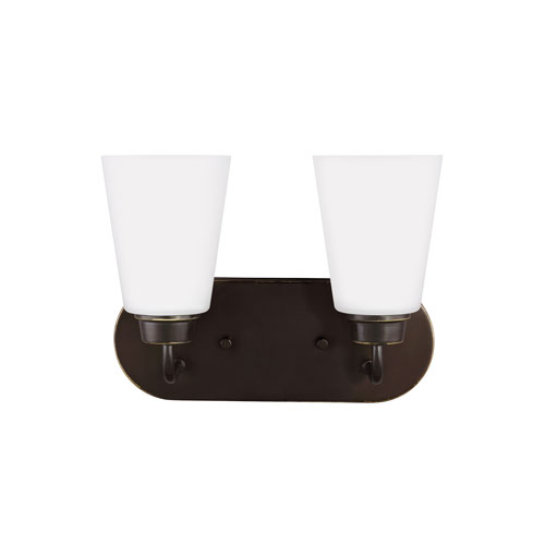 Kerrville Heirloom Bronze Energy Star Two-Light LED Bath Vanity