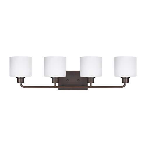 Canfield Burnt Sienna 32-Inch Four-Light Bath Vanity