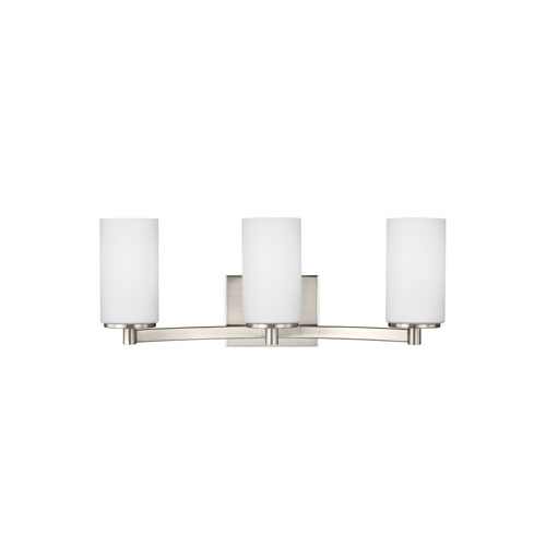 Hettinger Brushed Nickel Energy Star Three-Light LED Bath Vanity