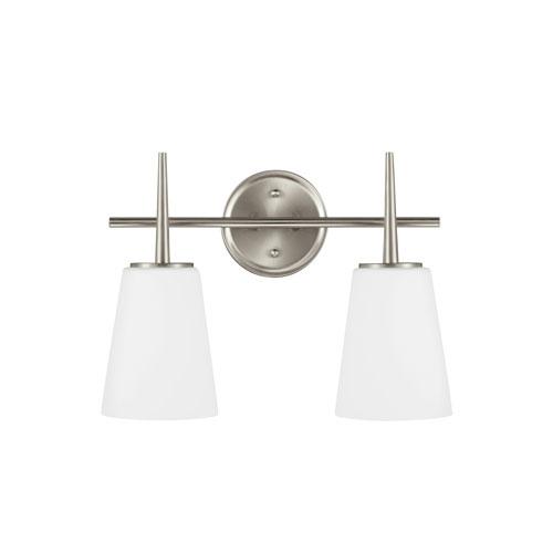 Sea Gull Lighting Driscoll Brushed Nickel Energy Star Two-Light LED Bath Vanity