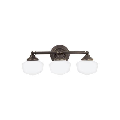 Sea Gull Lighting Academy Heirloom Bronze Energy Star Three-Light LED Bath Vanity
