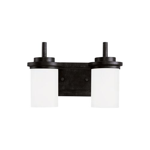 Sea Gull Lighting Winnetka Blacksmith Energy Star Two-Light LED Bath Vanity