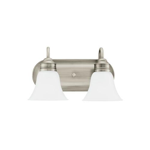Sea Gull Lighting Gladstone Antique Brushed Nickel Energy Star Two-Light LED Bath Vanity