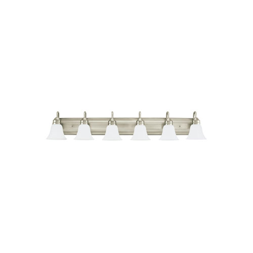 Gladstone Antique Brushed Nickel Energy Star Six-Light LED Bath Vanity