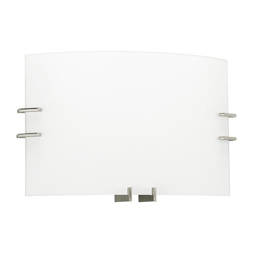 Sea Gull Lighting ADA Wall Sconces Brushed Nickel 15-Inch Two-Light Bath Vanity