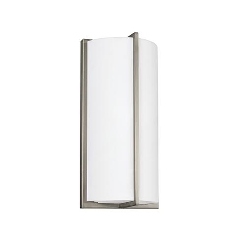 Sea Gull Lighting ADA Wall Sconces Brushed Nickel Six-Inch LED Bath Sconce