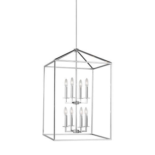 Perryton Chrome Eight-Light Lantern Pendant