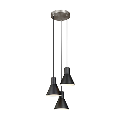 Sea Gull Lighting Towner Brushed Nickel 15-Inch Three-Light Pendant