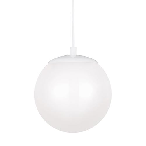 Hanging Globe White Eight-Inch LED Mini Pendant