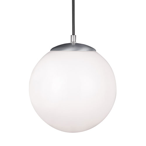Hanging Globe Satin Aluminum Energy Star 10-Inch LED Pendant