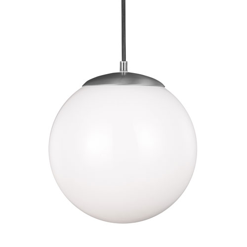 Hanging Globe Satin Aluminum Energy Star 12-Inch LED Pendant