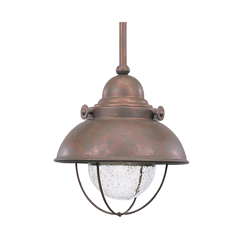 Sea Gull Lighting Sebring Weathered Copper Eight-Inch LED Outdoor Pendant