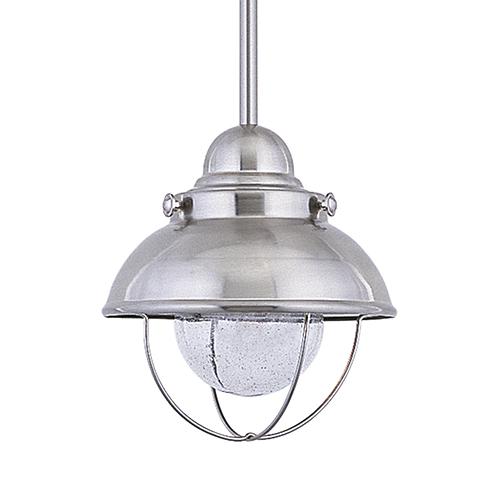 Sea Gull Lighting Sebring Brushed Stainless Eight-Inch LED Outdoor Pendant