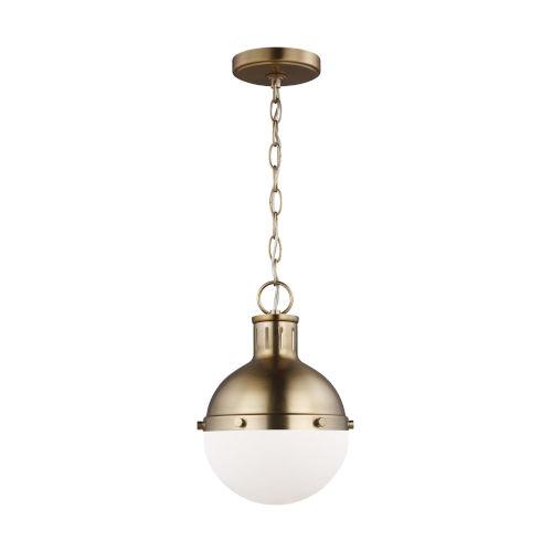 Hanks Satin Bronze Mini Pendant with LED Bulb