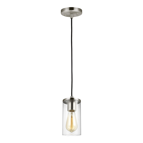 Zire Brushed Nickel Four-Inch One-Light Mini Pendant