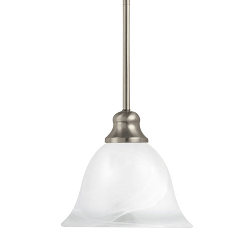 Sea Gull Lighting Windgate Brushed Nickel Energy Star LED Mini Pendant