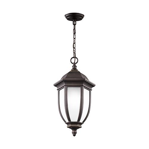 Sea Gull Lighting Galvyn Antique Bronze Energy Star 10-Inch One-Light Outdoor Pendant