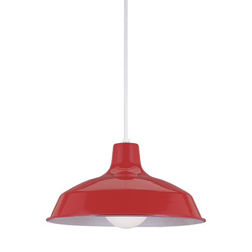 Painted Shade Pendants Red Energy Star LED Pendant