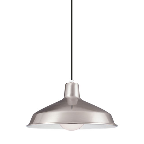 Painted Shade Pendants Brushed Stainless Energy Star LED Pendant