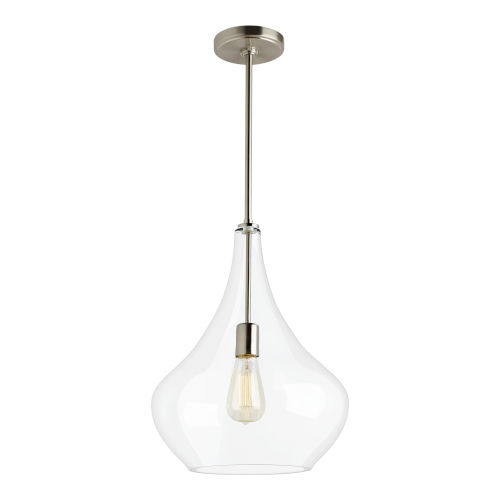 Mora Brushed Nickel One-Light Pendant