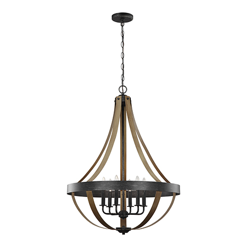 Sea Gull Lighting Davlin Stardust Energy Star 26-Inch Six-Light Chandelier