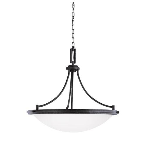 Sea Gull Lighting Winnetka Blacksmith Energy Star Four-Light LED Pendant