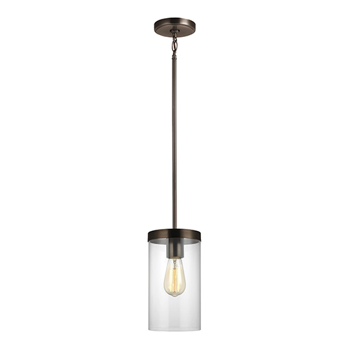Zire Brushed Oil Rubbed Bronze One-Light Mini Pendant