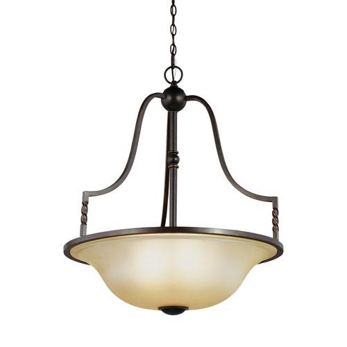 Sea Gull Lighting Trempealeau Roman Bronze Energy Star Four-Light LED Pendant