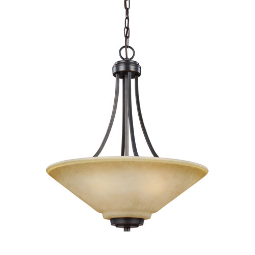 Sea Gull Lighting Parkfield Flemish Bronze Energy Star Three-Light LED Pendant