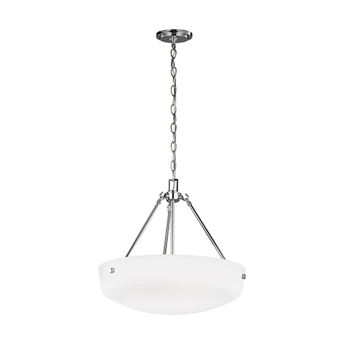 Kerrville Chrome 19-Inch Three-Light Pendant