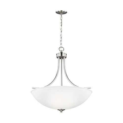 Sea Gull Lighting Geary Brushed Nickel Energy Star 25-Inch Four-Light Pendant