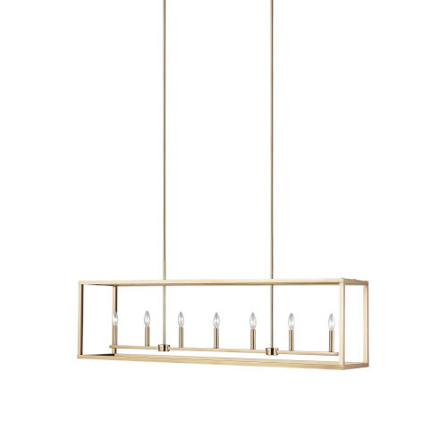 Moffet Street Satin Brass Seven-Light Pendant Energy Star