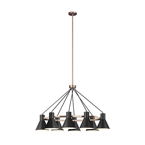 Sea Gull Lighting Towner Satin Bronze Energy Star 25-Inch Eight-Light Chandelier