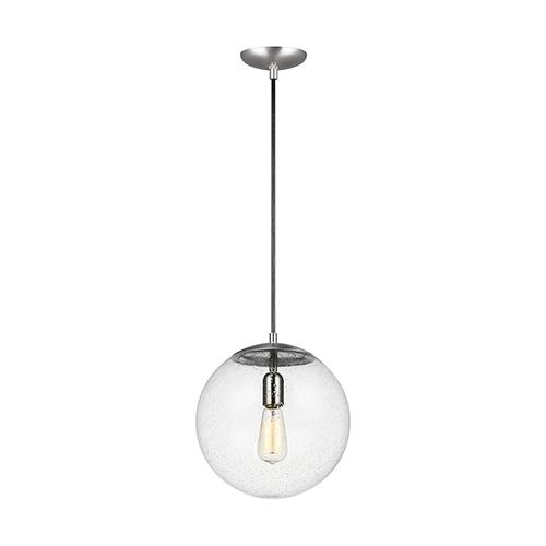 Hanging Globe Satin Aluminum 12-Inch One-Light Pendant
