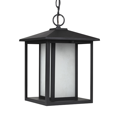 Sea Gull Lighting Hunnington Black Nine-Inch LED Outdoor Pendant