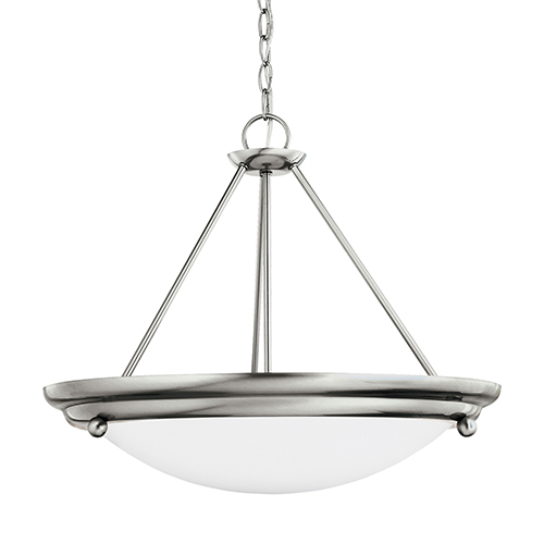 Centra Brushed Stainless 21-Inch LED Convertible Pendant