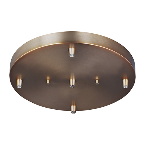 Sea Gull Lighting Towner Satin Bronze 12-Inch Five-Light Pendant Canopy