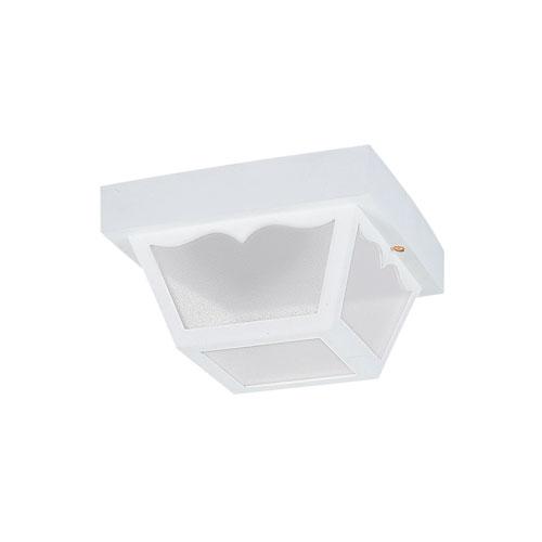 Sea Gull Lighting Outdoor Ceiling White Energy Star LED Outdoor Ceiling Flush Mount