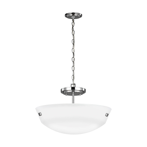 Kerrville Chrome 15-Inch Two-Light Convertible Pendant