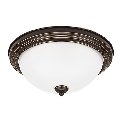 Sea Gull Lighting Heirloom Bronze 13-Inch LED Flush Mount