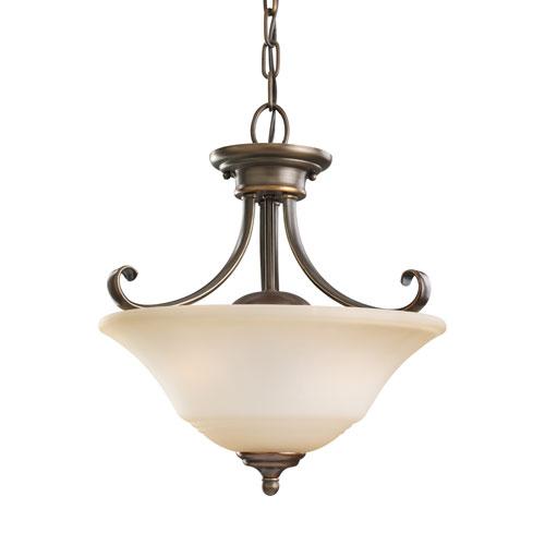 Sea Gull Lighting Parkview Russet Bronze Energy Star Two-Light LED Convertible Pendant