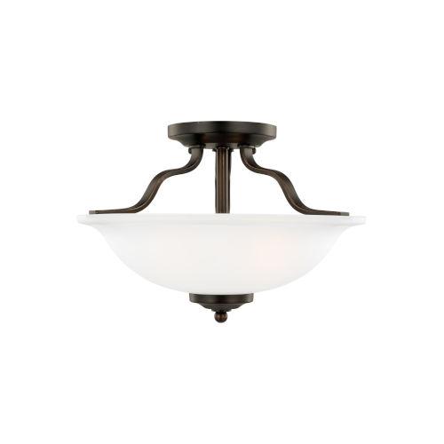 Emmons Bronze Two-Light Semi Flush Mount with LED Bulbs