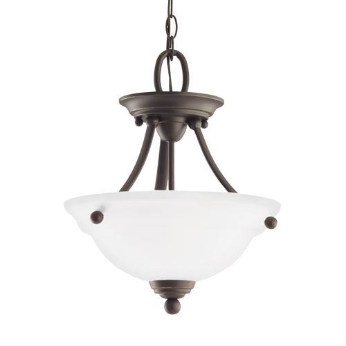 Sea Gull Lighting Wheaton Heirloom Bronze Energy Star Two-Light LED Convertible Pendant