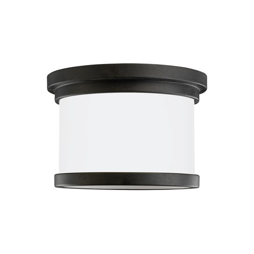 Sea Gull Lighting Winnetka Outdoor Forged Iron Energy Star LED Outdoor Ceiling Flush Mount