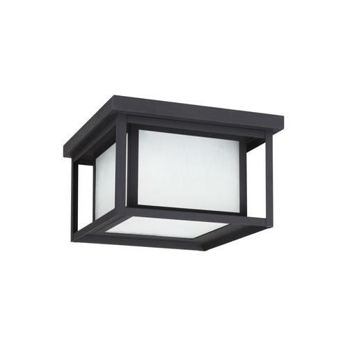 Hunnington Black Energy Star Two-Light LED Outdoor Ceiling Flush Mount