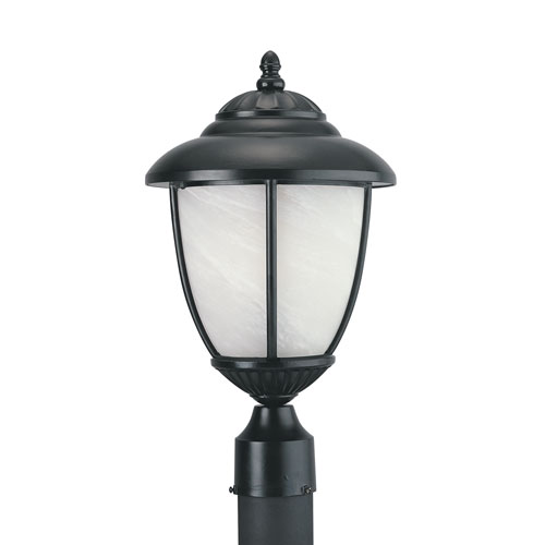 Yorktown Black Energy Star LED Outdoor Post Lantern