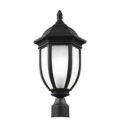 Sea Gull Lighting Galvyn Black Energy Star 10-Inch One-Light Outdoor Post Lantern