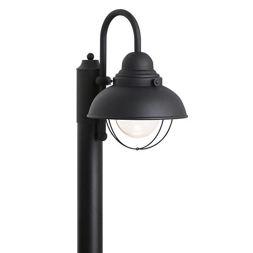 Sea Gull Lighting Sebring Black 11-Inch LED Outdoor Post Lantern